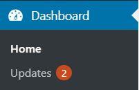 Updates in the WordPress dashboard